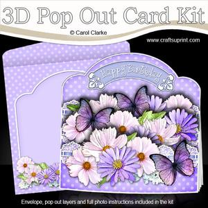 3D Butterflies and Flowers Pop Out Card Kit