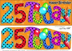 Large Dl 25th Birthday Celebrations Card & 3D Decoupage