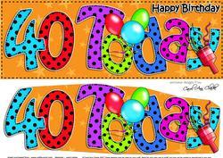 Large Dl 40th Birthday Celebrations Card & 3D Decoupage