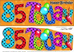 Large Dl 85th Birthday Celebrations Card & 3D Decoupage