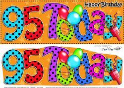Large Dl 95th Birthday Celebrations Card & 3D Decoupage