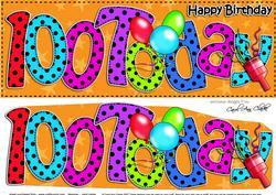 Large Dl 100th Birthday Celebrations Card & 3D Decoupage