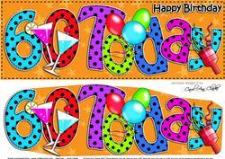 Large Dl 60th Birthday Celebrations Card & 3D Decoupage
