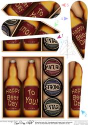 Birthday Beer Gift Set Fan Pyramage Topper