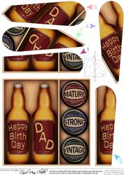Birthday Dad Beer Gift Set Fan Pyramage Topper