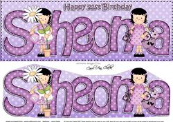 Large Dl 21st Birthday Sheona Girlz Quick Card 3D Decoupage