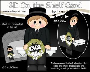 3D on the Shelf Card Kit - Little Funeral Director Dexter