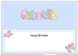 Large Dl Birthday Gabrielle Butterflies Insert
