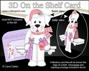 3D on the Shelf Card Kit - Little Christmas Labrador Dog