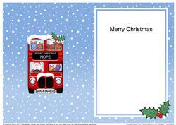 Christmas Santa Express Hope Matching A5 Insert