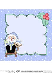 8 x 8 Christmas Sledging Santa Insert