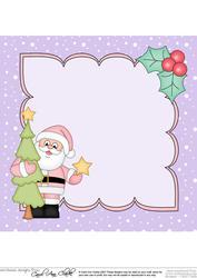 8 x 8 Christmas Santa's Tree Insert