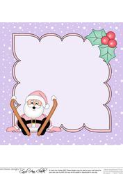8 x 8 Christmas Oops Skiing Santa Insert
