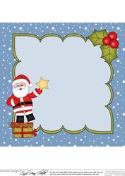 8 x 8 Christmas Santa Dressing the Tree Insert