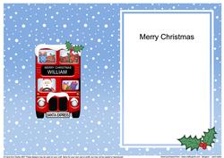 Christmas Santa Express William Matching A5 Insert
