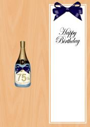 Large Dl 75th Birthday Champers in a Box Insert