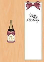 Large Dl 21st Birthday Champers in a Box Insert