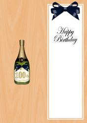 Large Dl 100th Birthday Champers in a Box Insert
