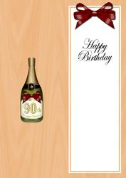 Large Dl 90th Birthday Champers in a Box Insert