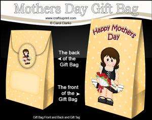 3D Scottish Lady's Flowers for Mum Mothers Day Gift Bag