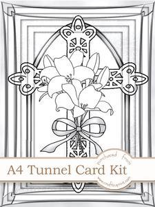 A4 When Words Fail in Mono Tunnel Card Kit