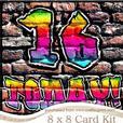 8 x 8 Graffiti 16 Today! Kit with Scalloped Corners
