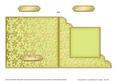 Gold Floral Cut and Fold Corner Card Plain Card Base
