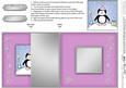 Cute Xmas Penguin No-hole Fold Back Card