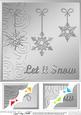 8 x 8 Xmas Snowflakes Scalloped Corner Topper