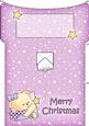 Rosie's Christmas Star Money or Gift Wallet and Card