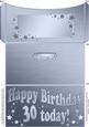 30th Birthday Metallic Age Money or Gift Wallet and Card