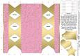 Gold Swirls Cracker Shaped Treat or Favour Box