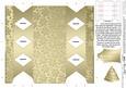 Metallic Snowflakes Cracker Shaped Treat or Favour Box