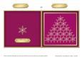 Xmas Snowflake Tree Cut and Fold Card