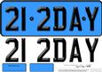 Large Dl 21st Birthday Novelty Number Plate and 3D Decoupage