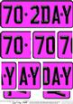 70th Birthday Fun Novelty Number Plate with Side Stacker Top