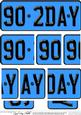 90th Birthday Fun Novelty Number Plate with Side Stacker Top