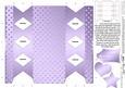 Metallic Polka Dots Cracker Shaped Treat or Favour Box