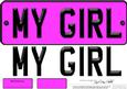 Large Dl My Girl Novelty Number Plate N 3D Decoupage