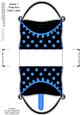 Polka Dots Handbag Shaped Treat or Favour Box Sheet 1