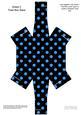 Polka Dots Handbag Shaped Treat or Favour Box Sheet 2