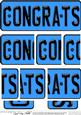 Congratulations Novelty Number Plate with Side Stacker