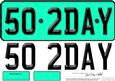 Large Dl 50th Birthday Novelty Number Plate and 3D Decoupage