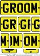 Groom Novelty Number Plate with Side Stacker