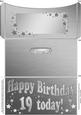 19th Birthday Metallic Age Money or Gift Wallet and Card