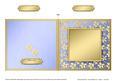 Square Metallic Flowers Plain Card Base - Portrait
