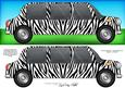 Large Dl Zebra Stripe Stretch Limo Quick Card N 3D Decoupage