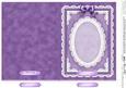 5 x 7 Pearls, Lace and Ribbon Plain Card Base