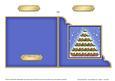 Christmas Pudding Tree Cut and Fold Corner Card