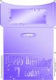 7th Birthday Metallic Age Money or Gift Wallet and Card